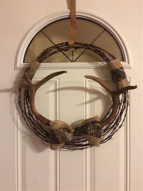 Rustic Home Decor Pinterest barbed wire antler wreath rustic decor pinterest