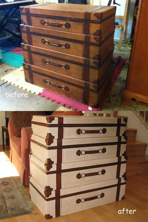 Luggage Dresser by Suitcase Dresser Before And After A Remodel Personally