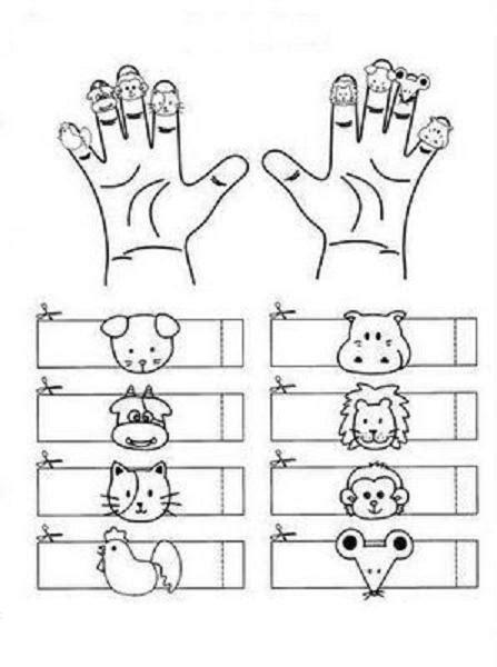 printable zoo animal finger puppets animals finger puppets learningenglish esl