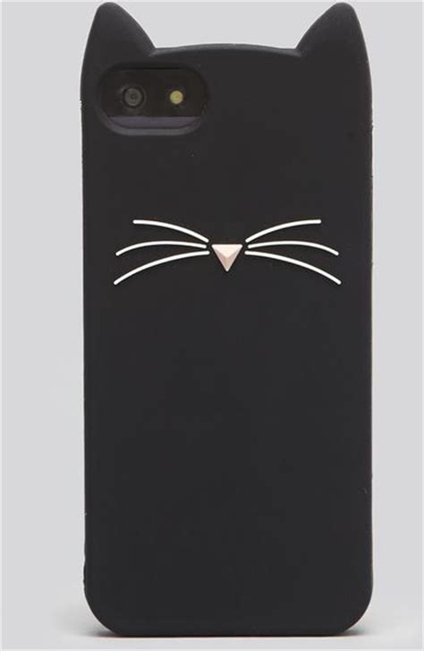 Cat Transparan For Iphone 55s kate spade iphone 55s silicone black cat in black lyst