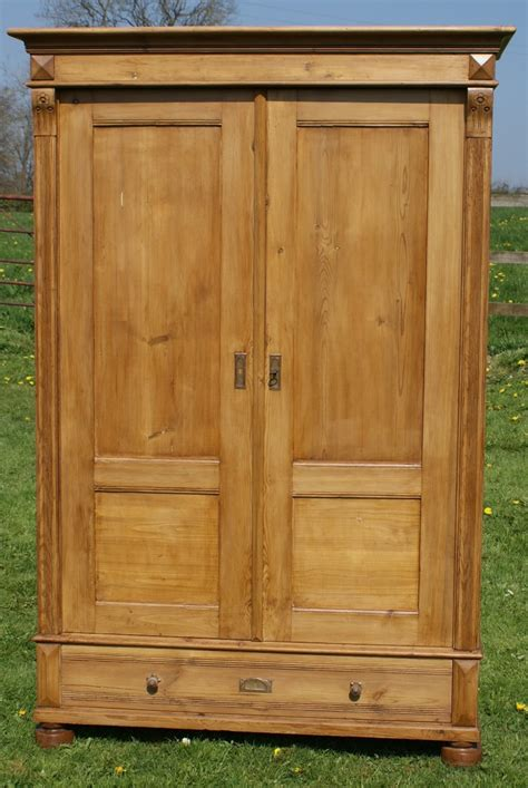 pine armoire wardrobe a very good antique german solid pine armoire wardrobe