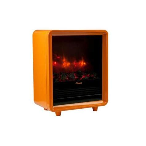 electric fireplace heater home depot crane 1500 watt mini fireplace radiant electric portable