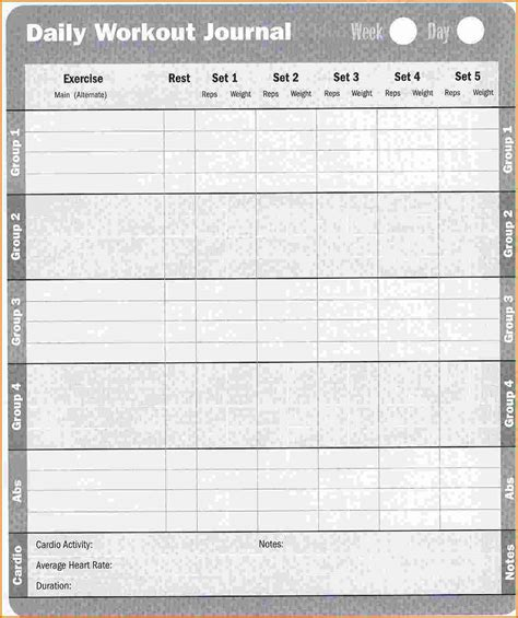 blank workout log template 6 blank workout log divorce document