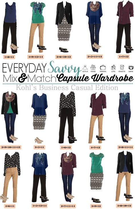 kohls business casual capsule wardrobe for fall business