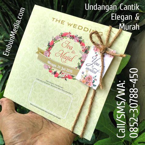 Undangan Pernikahan Manten Murah Sehari Jadi undangan cantik tali goni iva majid 171 cetak undangan nikah