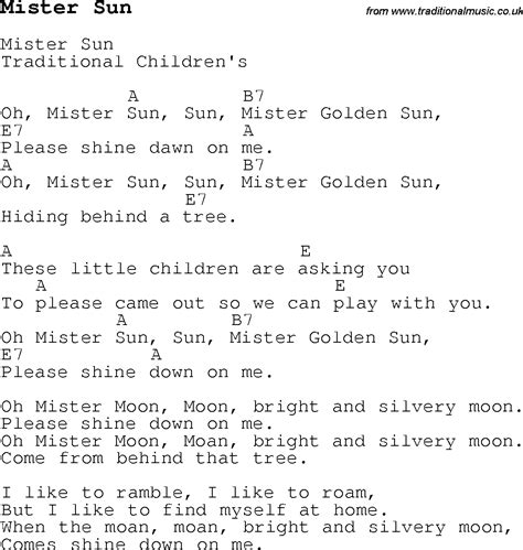 Children S Songs Lyrics - childrens songs and nursery rhymes lyrics with easy