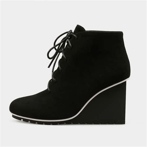 Sneaker Wedges Ankle Autunum Black jady ankle high wedge sneaker black boots 17dr10271