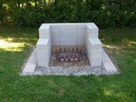 cinder block fire pit youtube