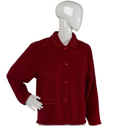 womens bed jacket ladies slenderella housecoat womens satin style trim robe