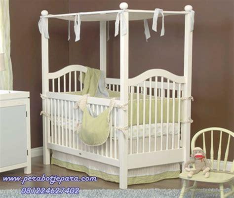 Tempat Tidur Bayi Untuk Di Mobil jual box bayi kayu duco warna putih harga murah model