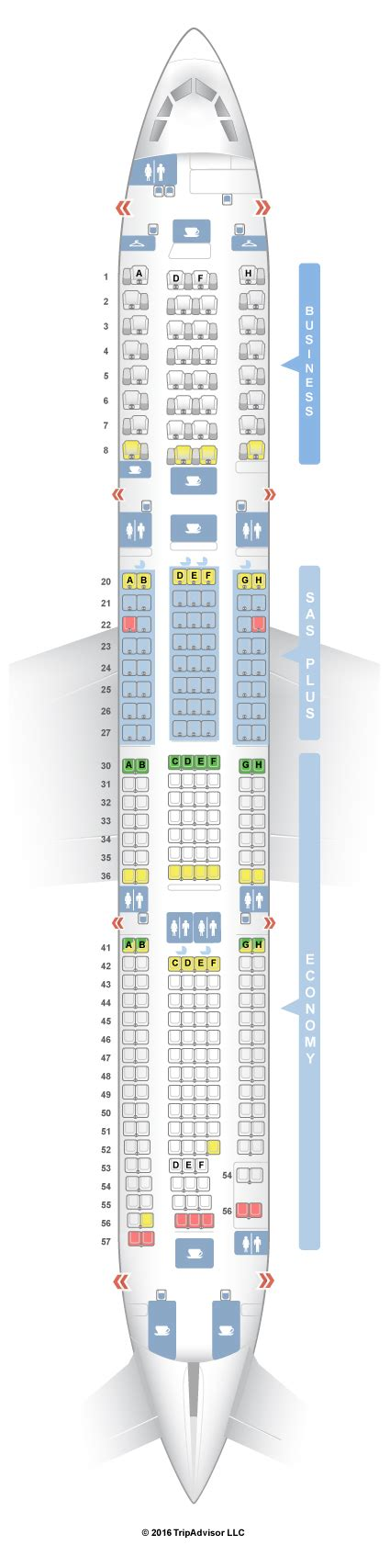 a330 seating seatguru seat map sas airbus a330 300 333