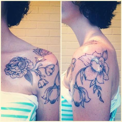 nashville ink tattoo my newest ink original vintage floral artwork by tim