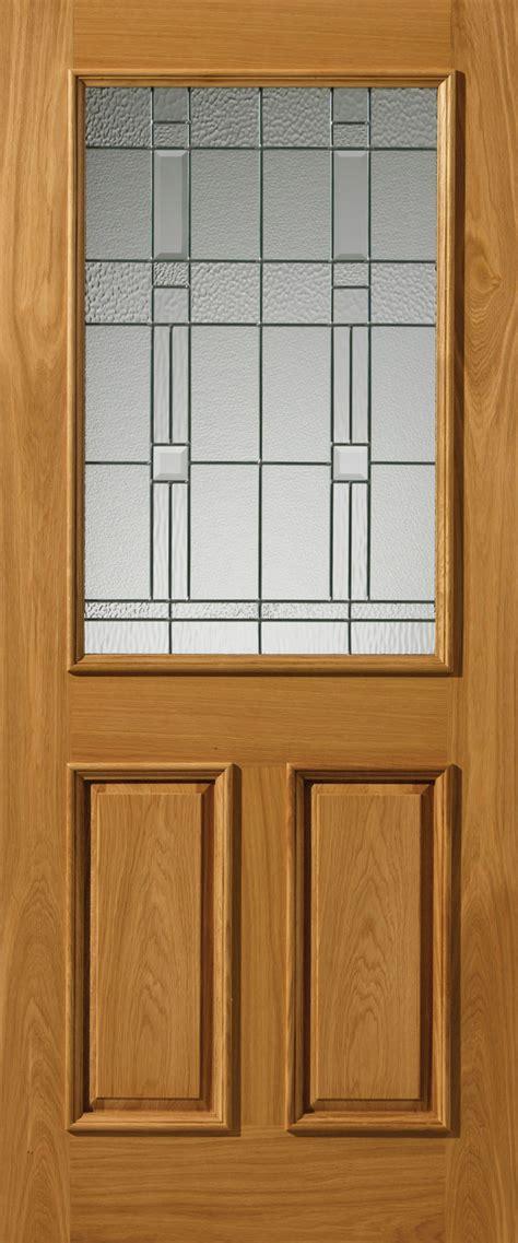 Thermal Front Doors Burgundy Glazed Thermal External Oak Door
