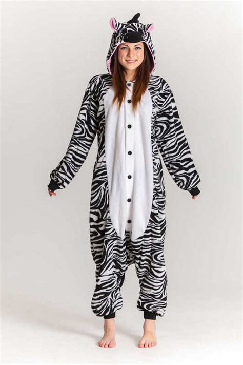 Hw Pajamas Stripe Tsum zebra kigurumi onesie unisex s at mighty ape nz