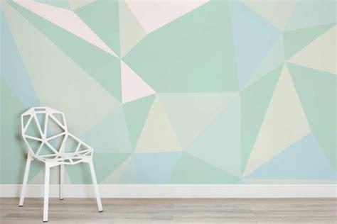mint geometric wallpaper mural muralswallpapercouk