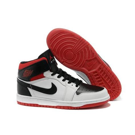 white jordans shoes air 1 stylish high white black nike shoes