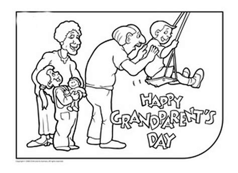 coloring page for grandparents day grandparents day coloring pages activities for kids