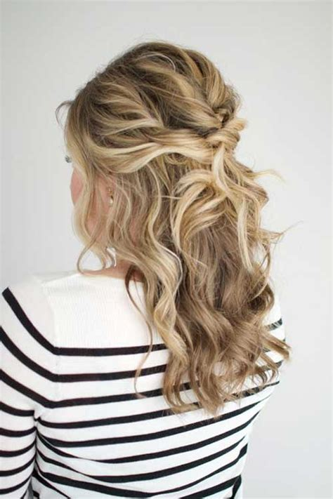 half hairstyles 20 chic half updo hairstyles hairstyles 2016 2017