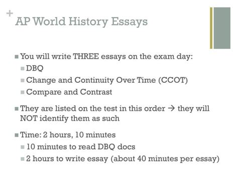 Ccot Essay Outline Exle by Ppt Change And Continuity Time Essay Ccot Powerpoint Presentation Id 2624195
