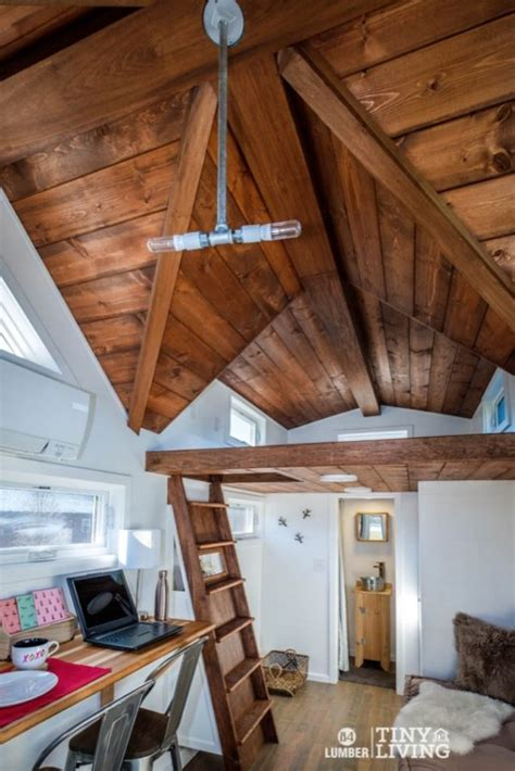 the countryside tiny house with cathedral ceilings