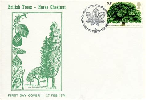 Gb Trees The Chestnut 1974 2nd Isuue trees the chestnut trees and leaves