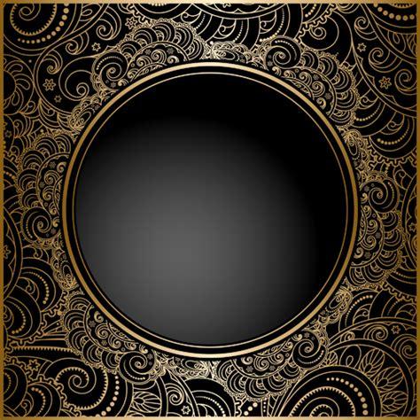 black  golden vintage background art vector