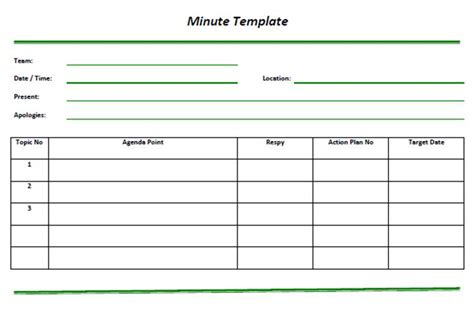 recording meeting minutes template minutes