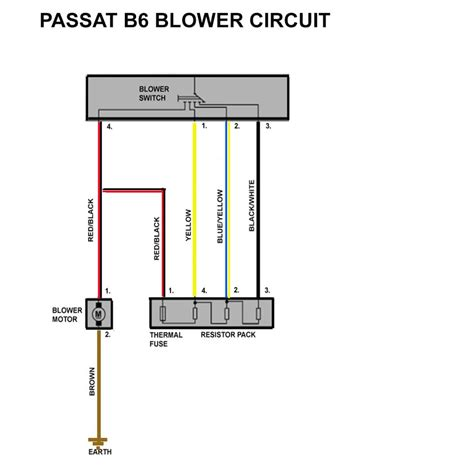 power resistor circuit passat b6 blower resistor passat