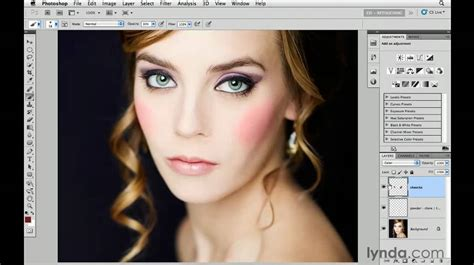 tutorial photoshop cs5 vire makeover how to add color to makeup in photoshop lynda com