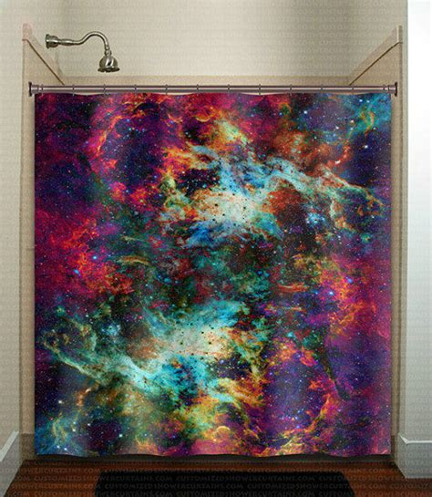 outer space curtains kids nebula cosmos outer space rainbow galaxy from