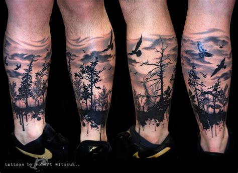 forest tattoo sleeve skull tattoos for sleeves forest in shadow by
