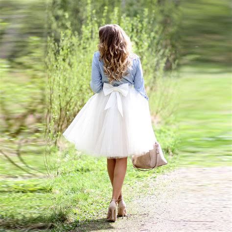 Big Skirt big bow tulle skirt a line knee length white skirt personalized skirts 2016 in skirts