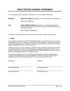 Test Policy Template by Test Consent Form Free Printable Documents