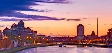 Cityscape Duvet Dublin Skyline At Dusk Dublin Photograph By Barry O Carroll