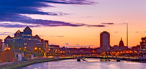 Curtains Home Decor by Dublin Skyline At Dusk Dublin Photograph By Barry O Carroll
