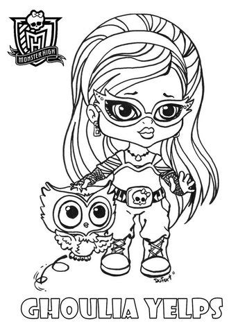 dibujos para colorear de monster high de beb s dibujos dibujo para colorear de monster high de beb 233 s ghoulia