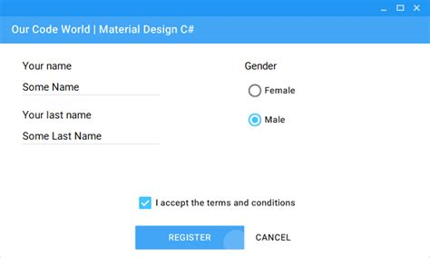 repository pattern vb net how to use material design controls with c in your