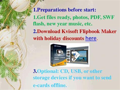 flash card maker offline 3 steps to make pageflip digital new year greeting cards