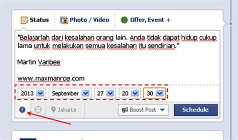 cara membuat status facebook via iphone cara membuat status facebook terjadwal di fan page anda
