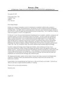 architecture cover letter exles the best letter sle