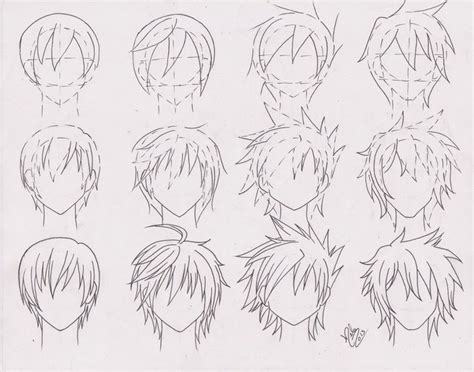 anime hairstyles guys tutorial cool anime boy hairstyles hair