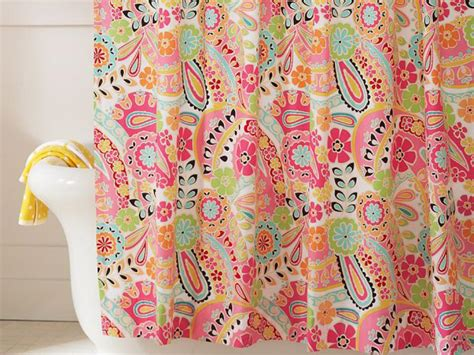 colorful curtains creatively colorful shower curtains hgtv