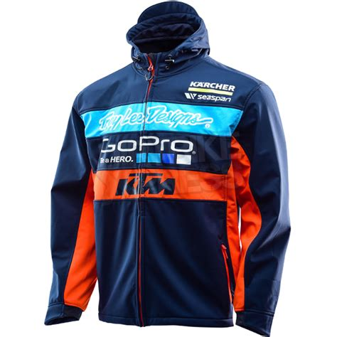 design jackets for teams troy lee designs 2016 team ktm pit jacket navy