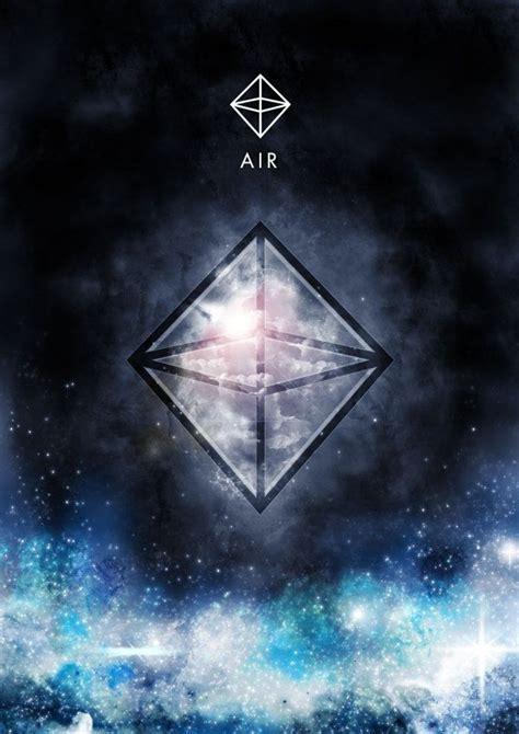 geometric tattoo elements air element and it s sacred geometric symbol octahedron