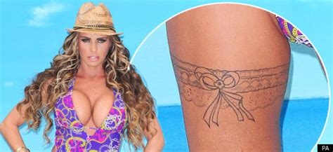 thigh tattoo cost uk katie price shows off new thigh tattoo at launch of new