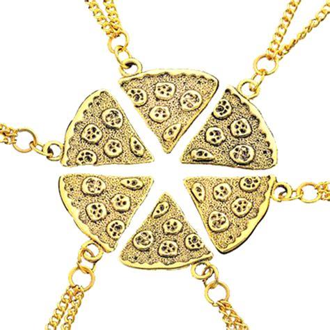 pizza pendant friendship necklaces drunkmall