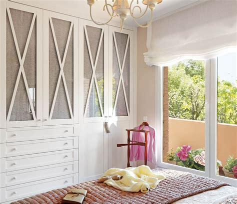 dormitorios con armario dormitorio con armario blanco con frentes entelados y en