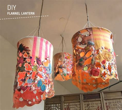 using fabric for home decor projects kovi diy flannel lanterns green wedding shoes