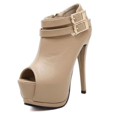 Shh1993 Material Pu Heel 14cm Size 35 36 37 389 fashion toe stilletto high heels apricot pu ankle