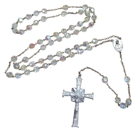 silver rosary vintage sterling silver rosary crucifix from tolw on